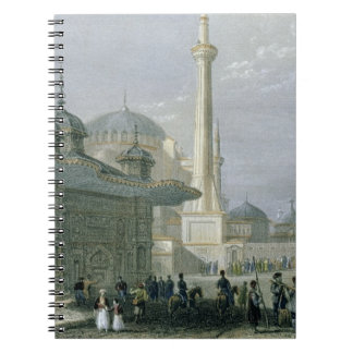 Fountain and Square of St. Sophia, Istanbul, engra Notebook