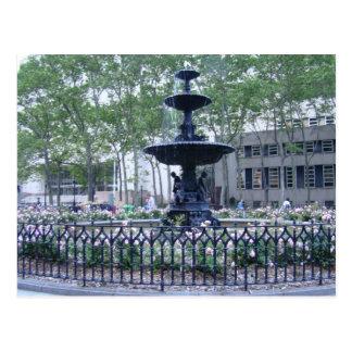 Fountain at Borough Hall, Brooklyn Postcard