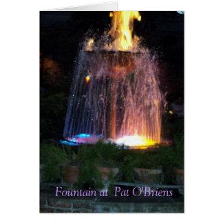 Fountain At Pat O'Briens New Orleans Card