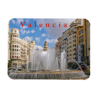 Fountain at the Administration Square in Valencia. Magnet