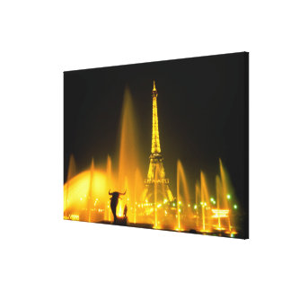 Fountain at the world famous Eiffel Tower Paris Canvas Print