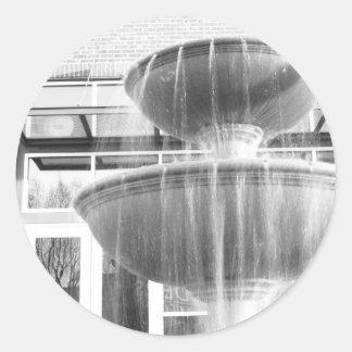 Fountain Classic Round Sticker