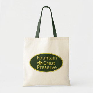 Fountain Crest Preserve Oval Tote Bag