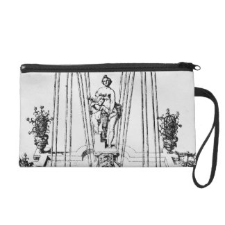 Fountain design from 'The Gardens of Wilton', c.16 Wristlet Clutch