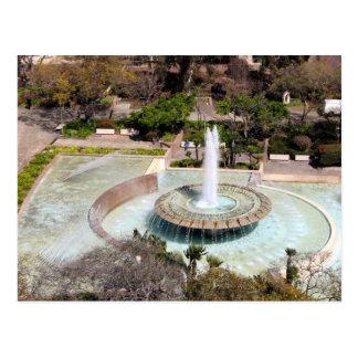 Fountain Dowtown Los Angeles Postcard