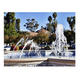 Fountain In Balbao Park San Diego Postcard