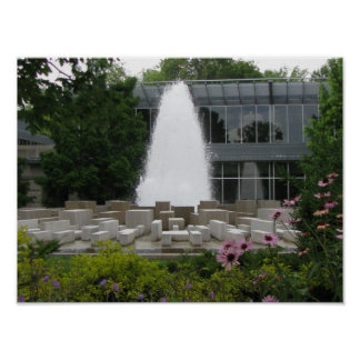 Fountain in front of Indianapolis Museum of Art Poster