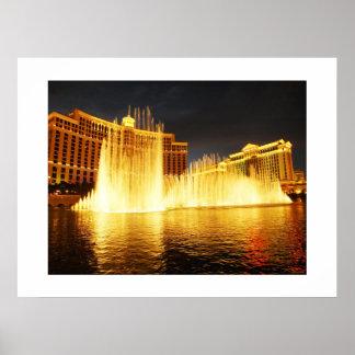 Fountain in Las Vegas Poster