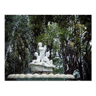 Fountain in Varna city, Bulgaria Postcard