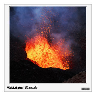 Fountain lava eruption from crater active volcano wall decal
