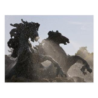 Fountain, Monument des Girondins, Bordeaux, Postcard