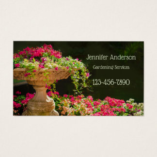 Fountain of Flowers Gardening Business Card