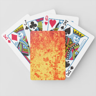 Fountain of hot lava erupts from crater volcano bicycle playing cards