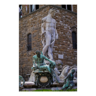 Fountain of Neptune Florence Italy Poster