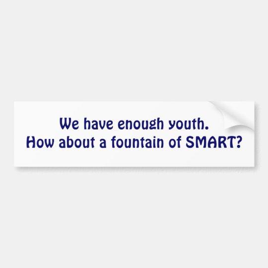 Fountain of Smart.. Bumper Sticker
