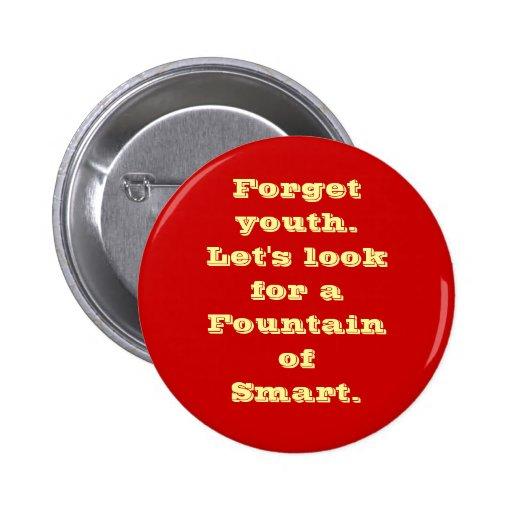 """Fountain of Smart"" Button"