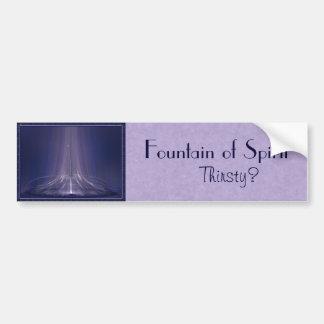 Fountain of Spirit Abstract Art Car Bumper Sticker