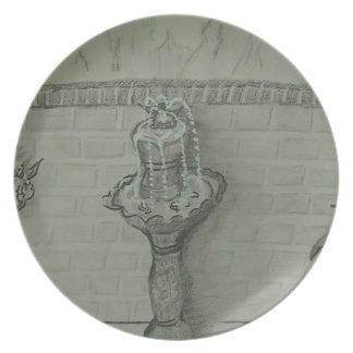 fountain plate