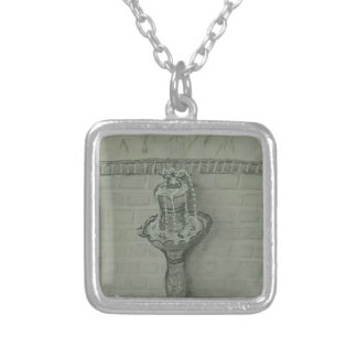 fountain silver plated necklace