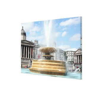Fountain, Trafalgar Square, London Canvas Print