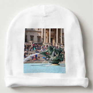 Fountain, Trafalgar Square, London, England 2 Baby Beanie