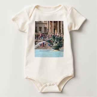 Fountain, Trafalgar Square, London, England 2 Baby Bodysuit