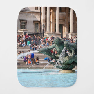 Fountain, Trafalgar Square, London, England 2 Burp Cloth