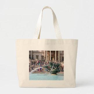 Fountain, Trafalgar Square, London, England 2 Large Tote Bag
