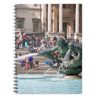 Fountain, Trafalgar Square, London, England 2 Notebook