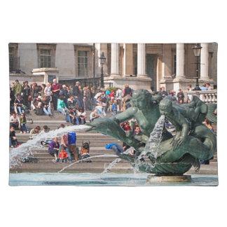 Fountain, Trafalgar Square, London, England 2 Placemat