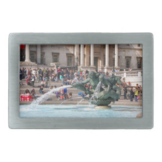 Fountain, Trafalgar Square, London, England 2 Rectangular Belt Buckle