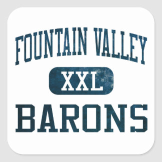 Fountain Valley Barons Athletics Square Sticker