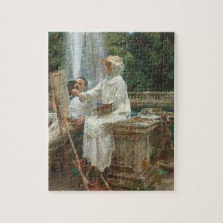 Fountain Villa Torlonia Frascati, Italy by Sargent Jigsaw Puzzle