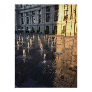 Fountains in Dilworth Park Philadelphia Poster