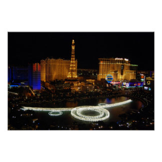 Fountains on the Strip Poster