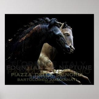 Fountian of Neptune-Sea Horses Poster