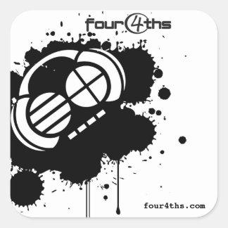 "Four4ths :: ""Black Blotter"" (stickers) Square Sticker"