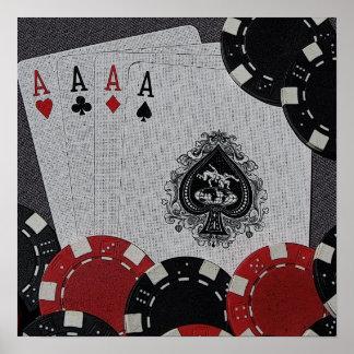 Four Aces Canvas Poster