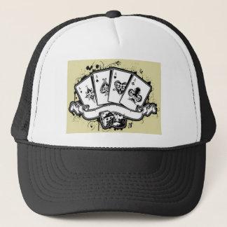 Four aces cards design trucker hat