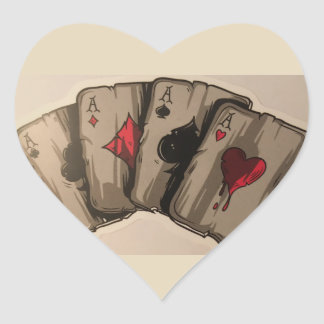 Four Aces Heart Sticker