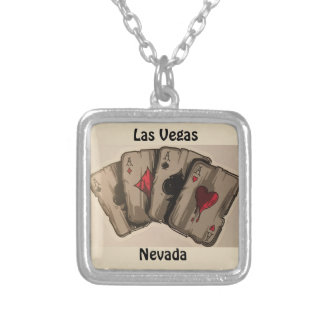 Four Aces Silver Plated Necklace