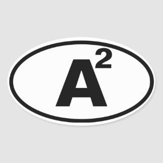 "FOUR Ann Arbor, ""A"" Squared Oval Sticker"