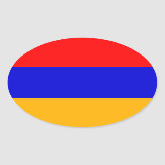 FOUR Armenia National Flag Oval Sticker