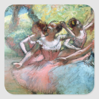 Four ballerinas on the stage stickers
