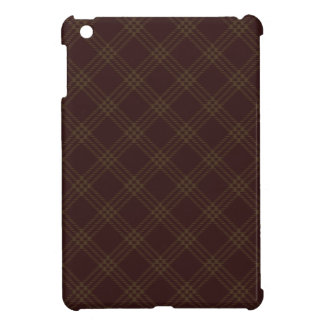 Four Bands Small Diamond - Dark Brown2 Case For The iPad Mini