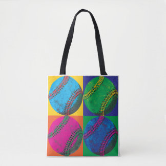Four Baseballs in Different Colors Tote Bag