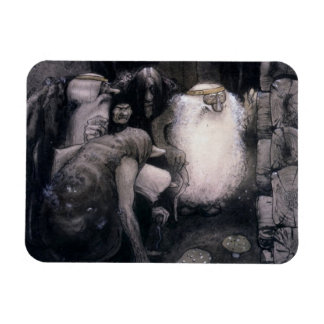 Four Big Trolls Rectangular Photo Magnet