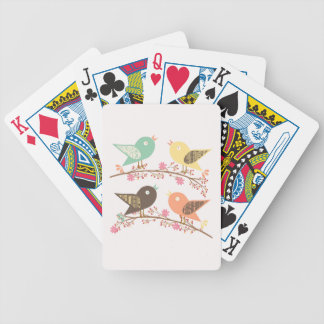 Four birds bicycle playing cards