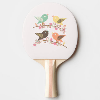 Four birds ping pong paddle