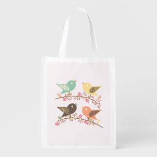 Four birds reusable grocery bag